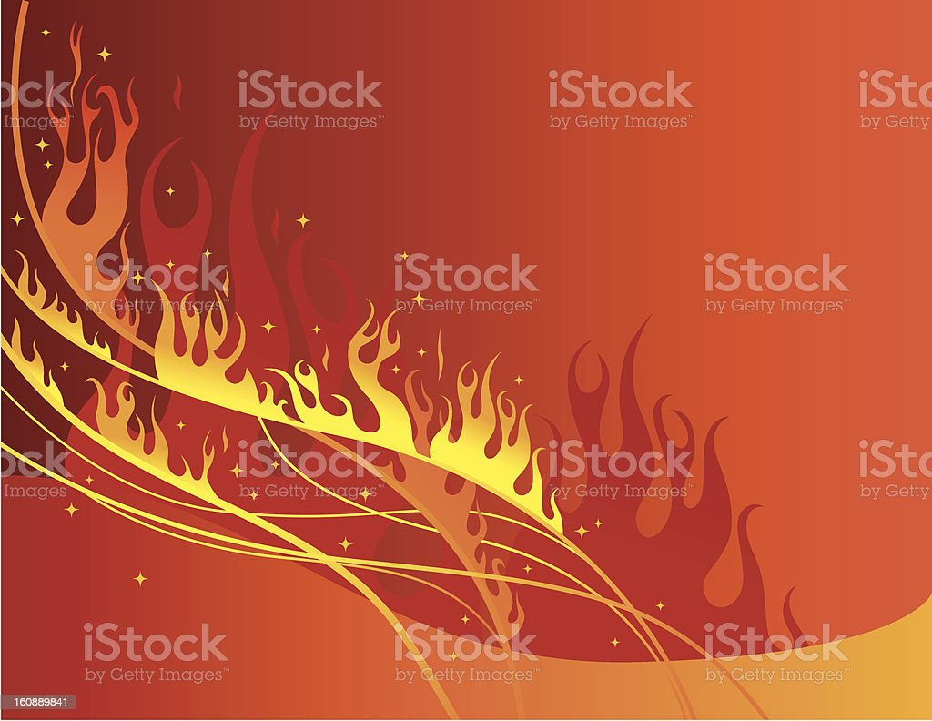 fire-background royalty-free stock vector art