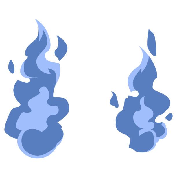 青い火の玉人魂 ベクターアートイラスト