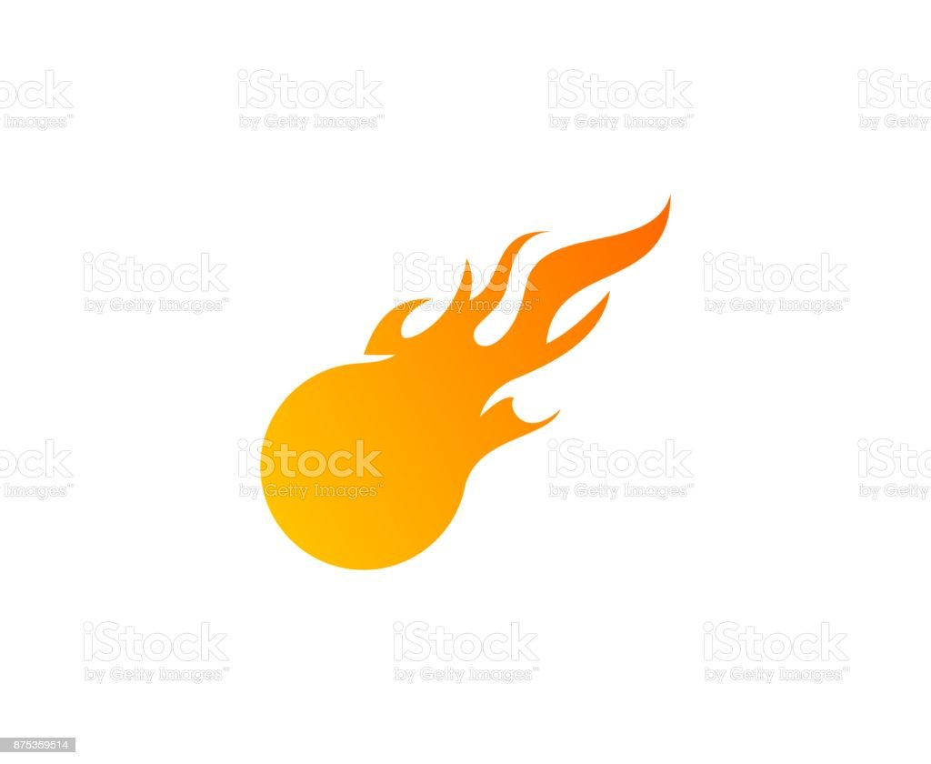 Fireball icon vector art illustration