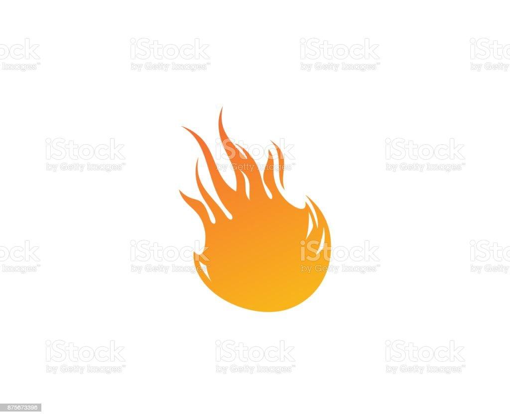 Ícone de bola de fogo - ilustração de arte em vetor
