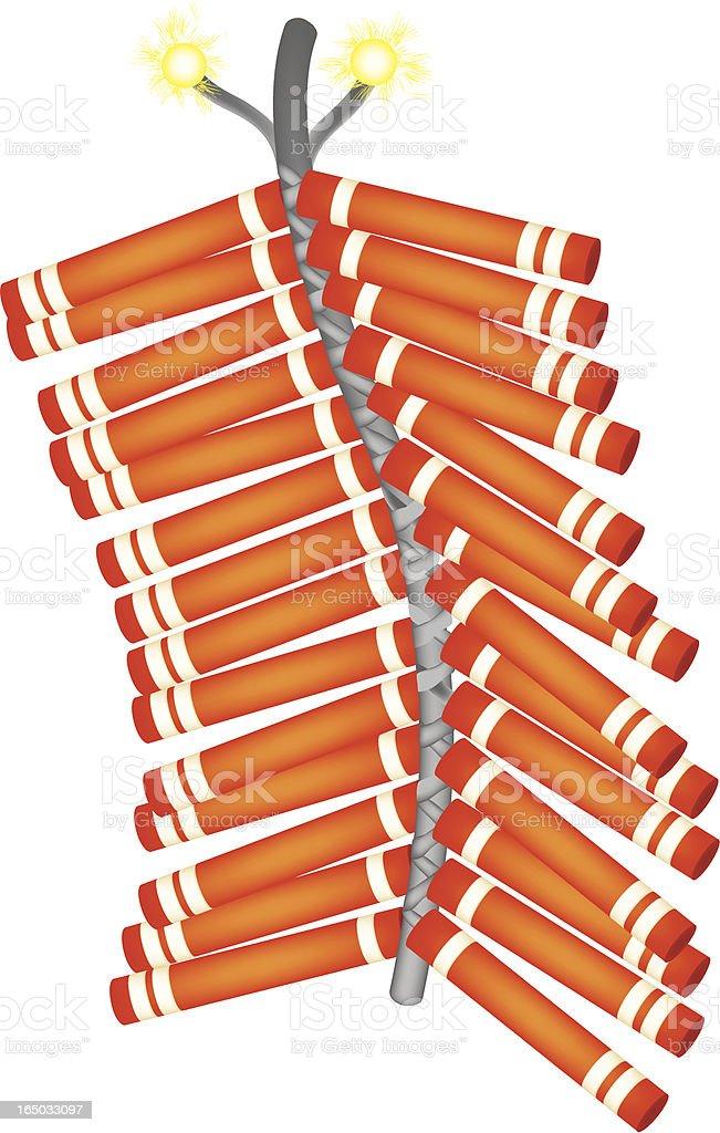 firecrackers (spark) royalty-free stock vector art
