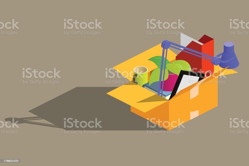 fired vector art illustration