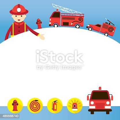 Emergency, Fire, Fireman, Vehicle and Equipment
