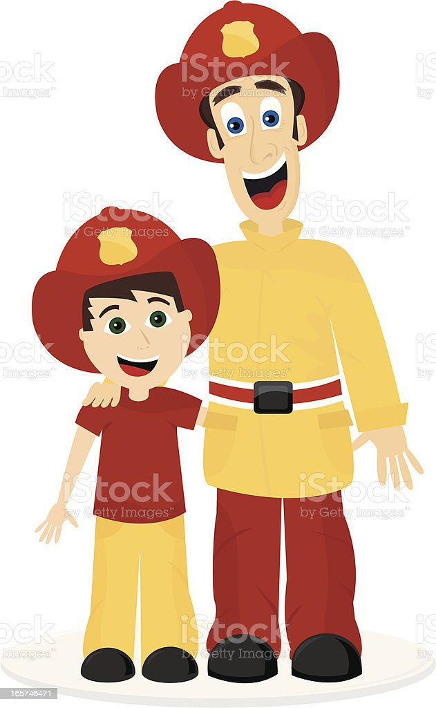 Firefighter and future fighter royalty-free stock vector art