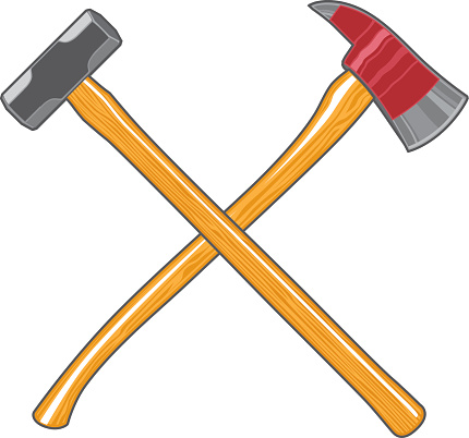 Firefighter Ax and Sledge Hammer