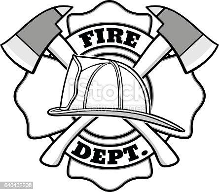 Firefighter Badge Illustration Stock Vector Art & More