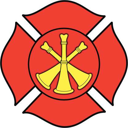 Firefighter Bugle Badge