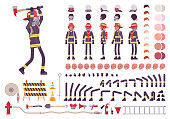 Firefighter character creation set