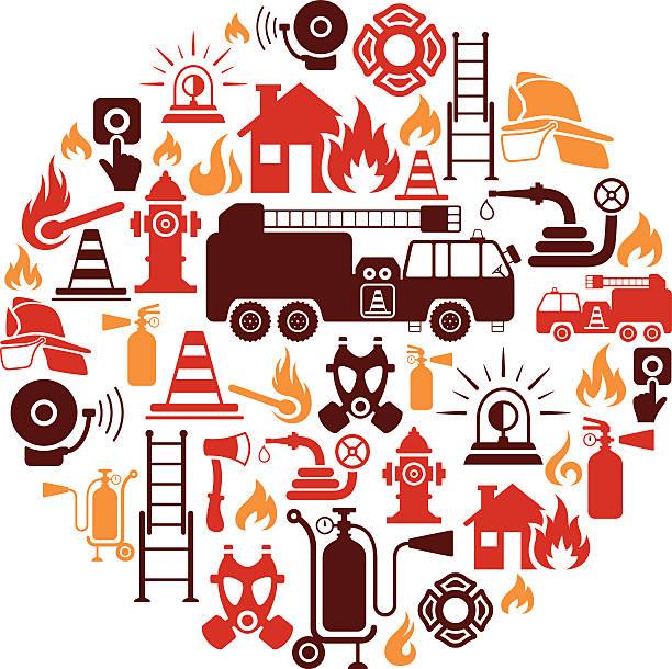 消防士カレッジ - 消防士点のイラスト素材/クリップアート素材/マンガ素材/アイコン素材