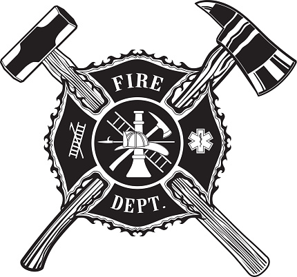 Firefighter Cross Ax and Sledge Hammer