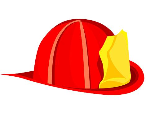 Firefighter helmet isolated on white background.