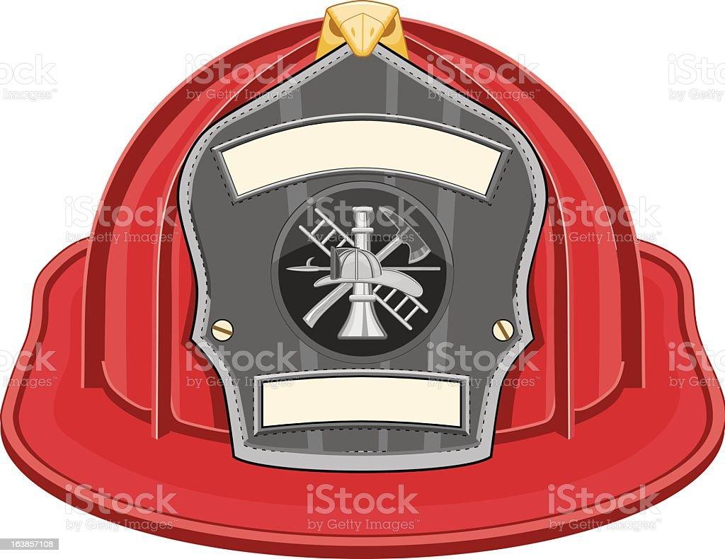 Firefighter Helmet Red vector art illustration
