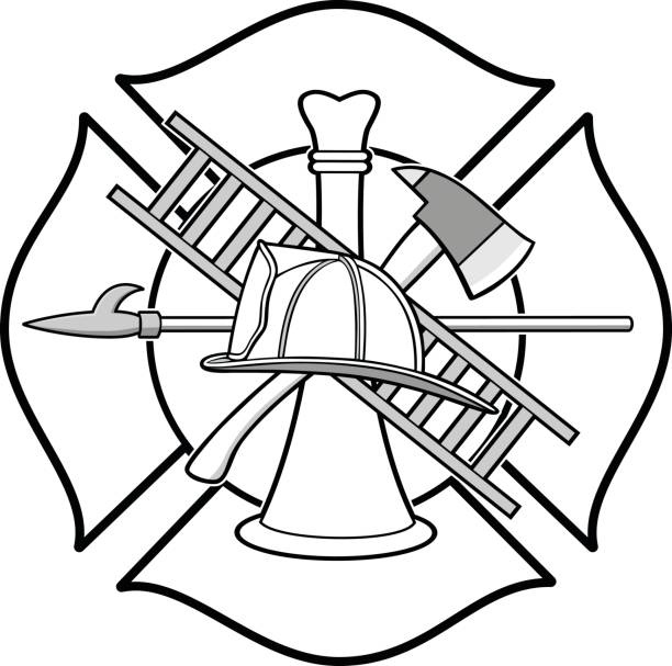 Firefighter Honor Badge Illustration vector art illustration
