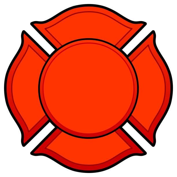 Firefighter Logo A vector cartoon illustration of a Firefighter Logo concept. maltese cross stock illustrations