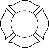 A vector illustration of a Firefighter Maltese Cross.
