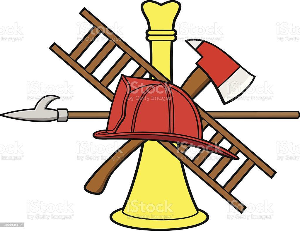 Firefighter Symbol royalty-free stock vector art