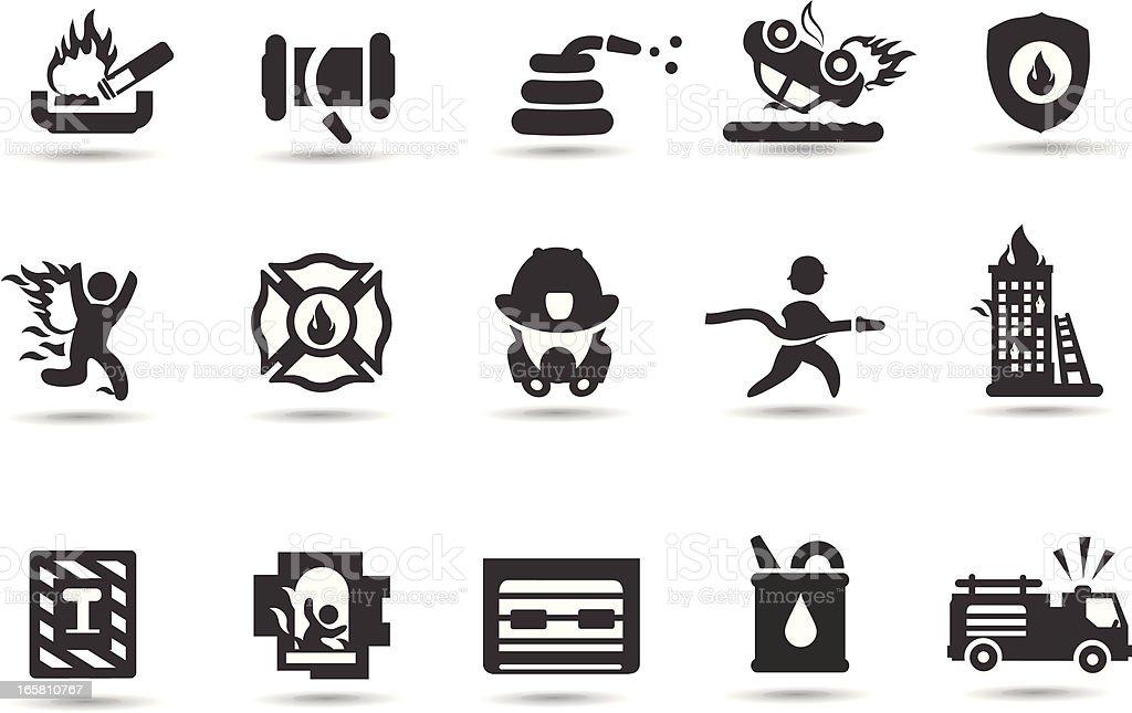 Firefighter Symbols vector art illustration