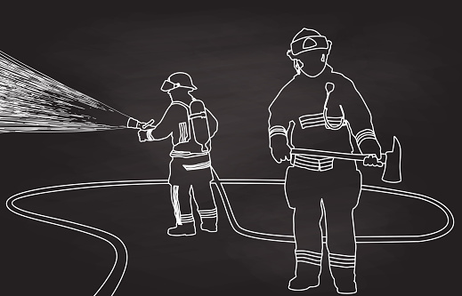 Firefighter Training Hose And Axe