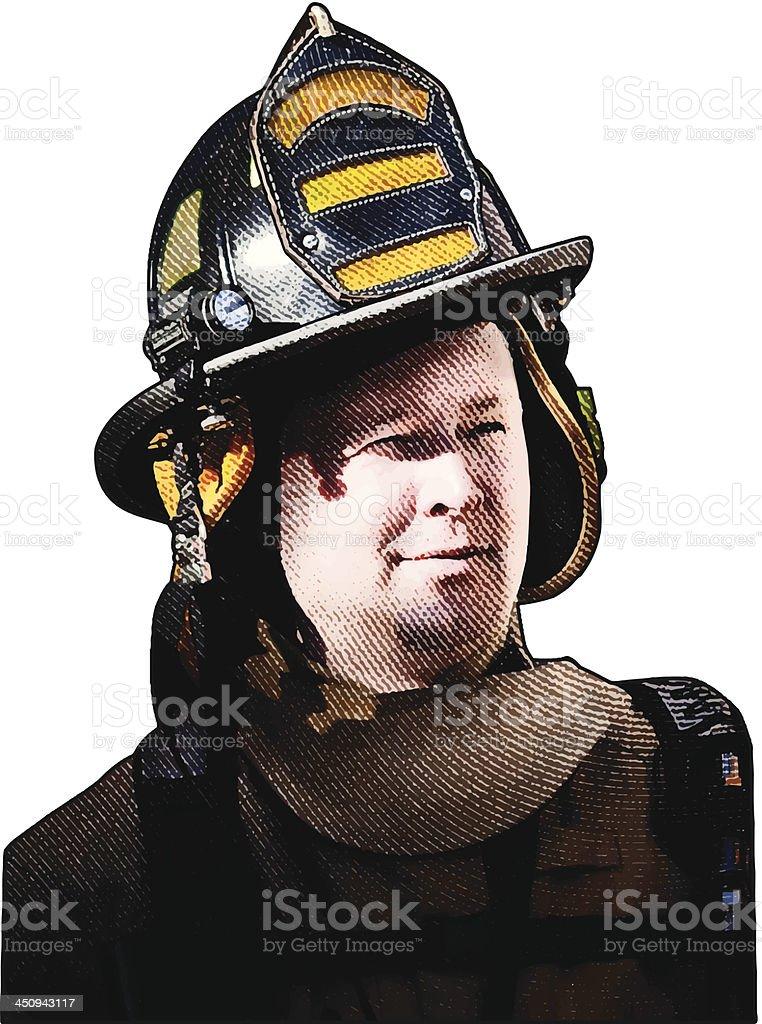 Firefighter royalty-free stock vector art
