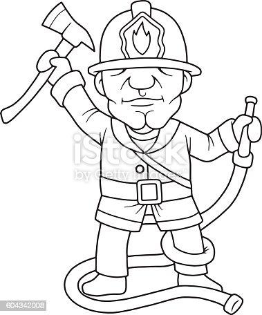 Bombero Illustracion Libre de Derechos 604342008 | iStock