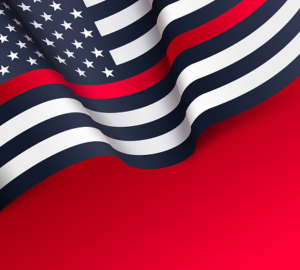 Firefighters Thin Red Line American Flag