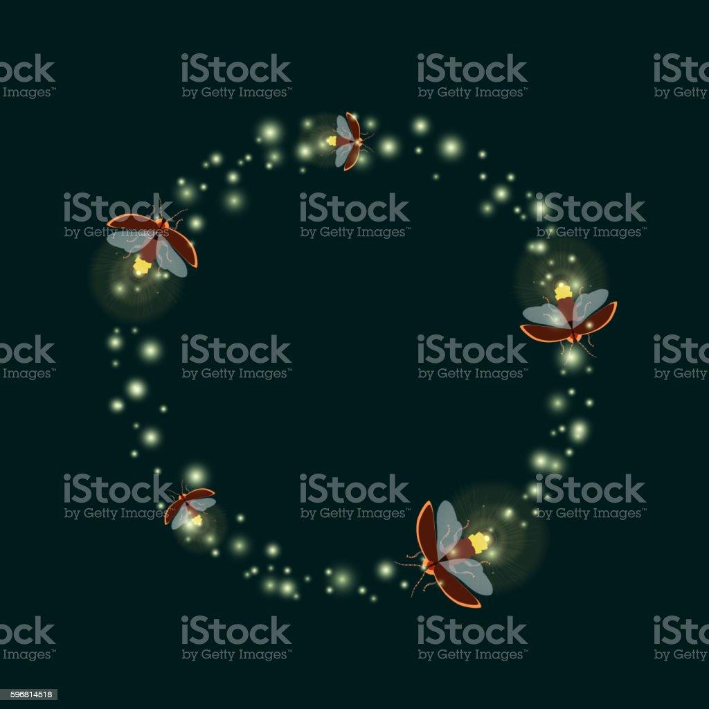 firefly circle vector art illustration