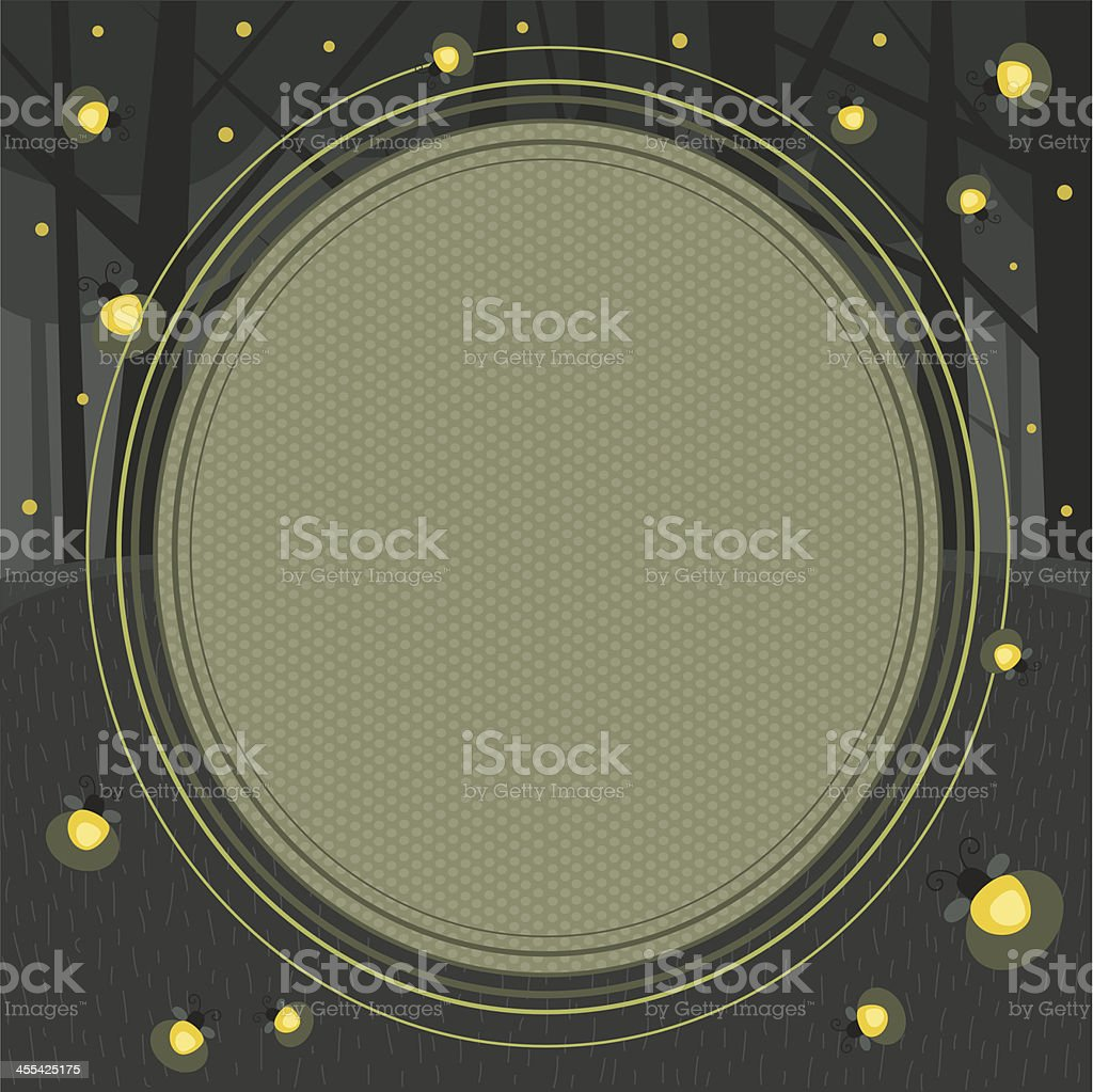 Firefly Frame - Copy Space vector art illustration