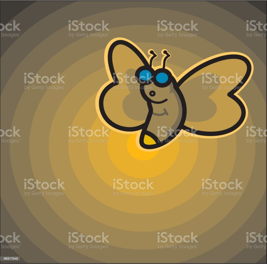 firefly glowing royalty-free stock vector art