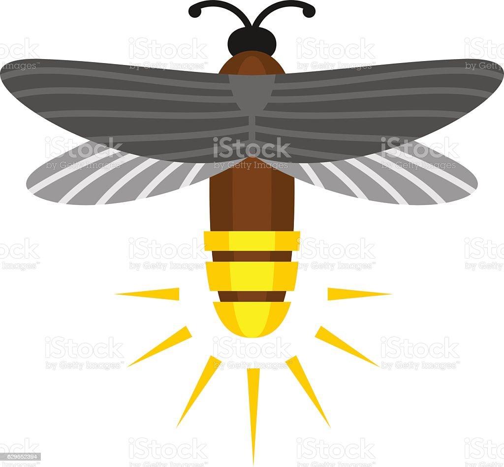 Firefly isolated cartoon vector logo vector art illustration