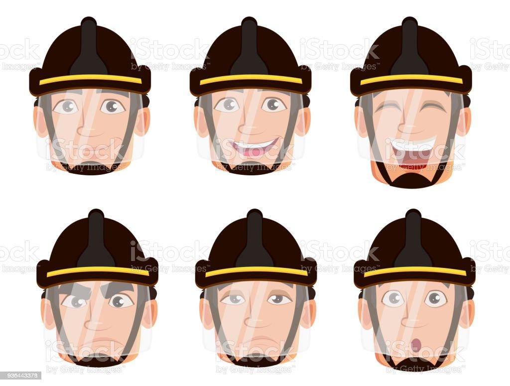 Ilustración De Personaje De Dibujos Animados De Bomberos Y