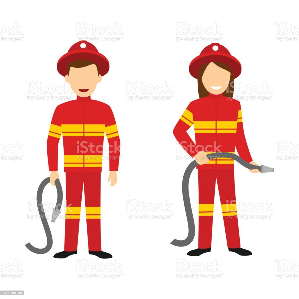 Fireman Character Stock Vector Art   More Images of Accidents and ... 6e0b8024fbf8