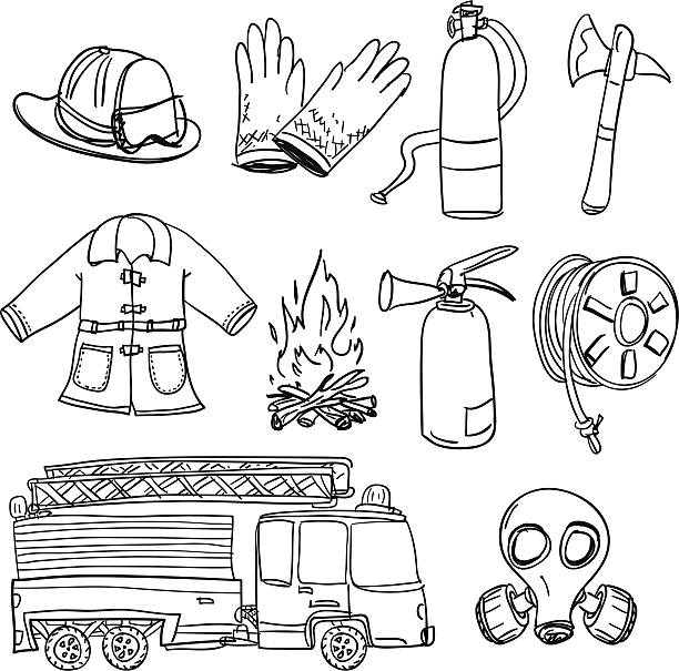 Top 60 Fire Protection Suit Clip Art, Vector Graphics and