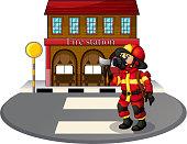 fireman holding an ax