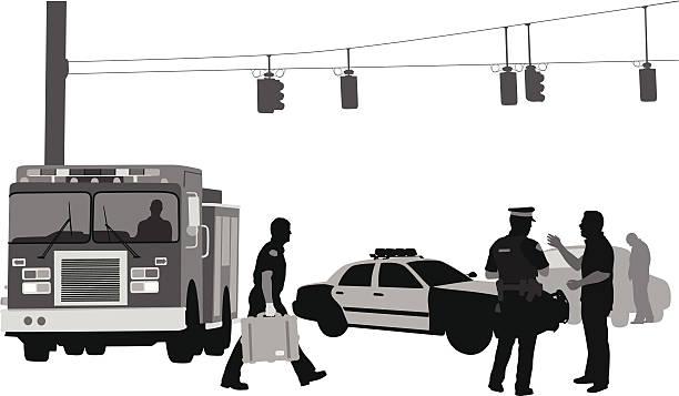 firemanpolice - 救急救命士点のイラスト素材/クリップアート素材/マンガ素材/アイコン素材