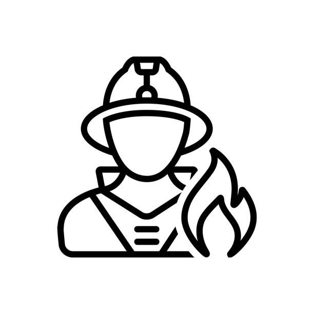 ilustraciones, imágenes clip art, dibujos animados e iconos de stock de seguridad del bombero - bombero