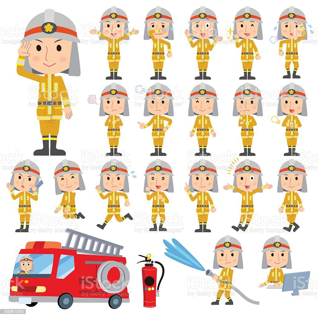 消防士 - ilustración de arte vectorial