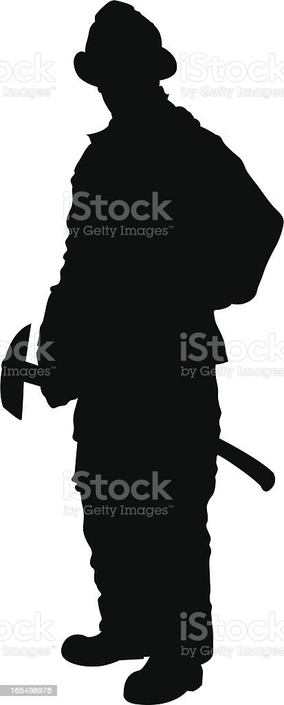 Fireman vector art illustration