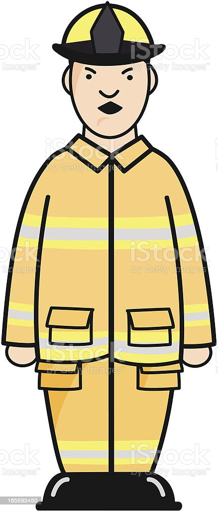 Fireman royalty-free stock vector art