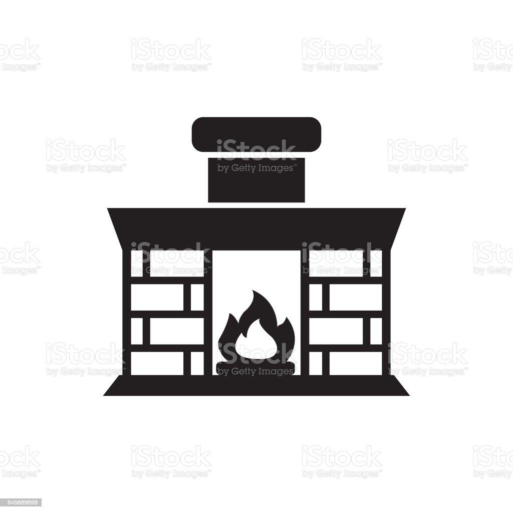 Ilustración de Chimenea Chimenea Hogar Incendio Ladrillos Vector ...