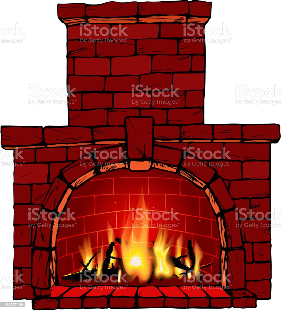 royalty free stone fireplace clip art vector images illustrations rh istockphoto com fireplace clipart black and white clipart fireplace