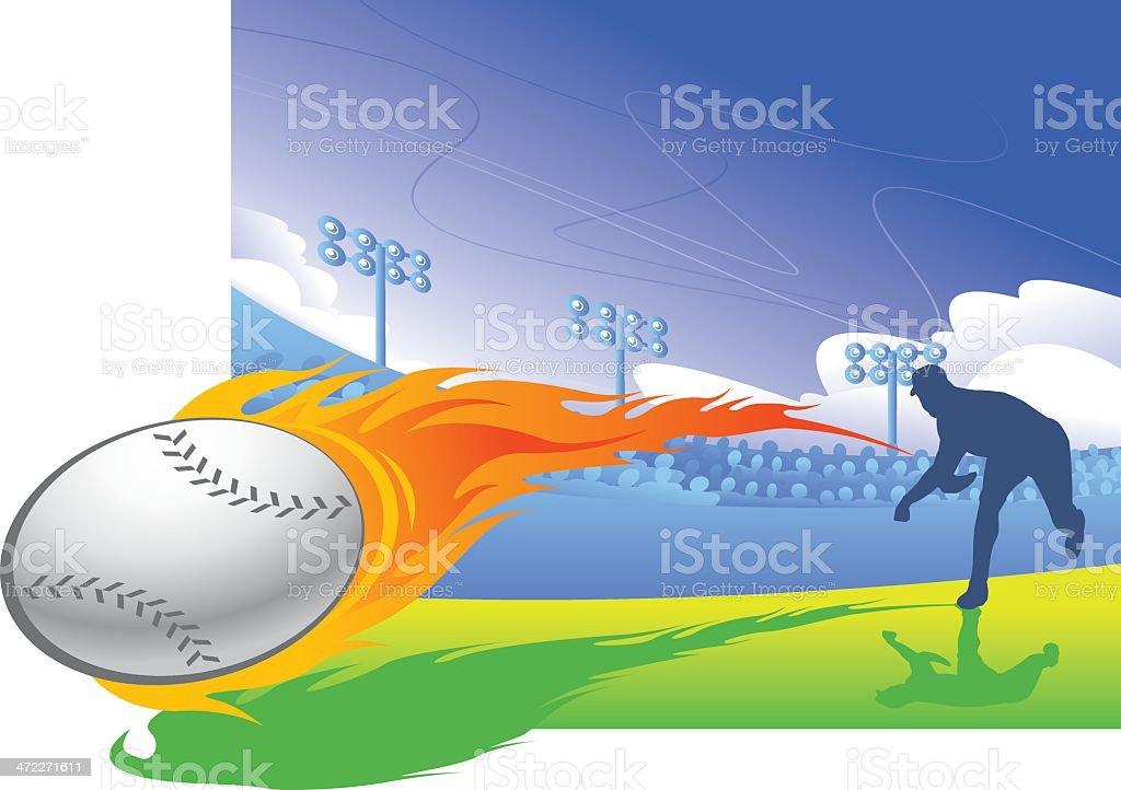 Firery FastBall royalty-free stock vector art