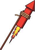 Firework rocket. Vector illustration