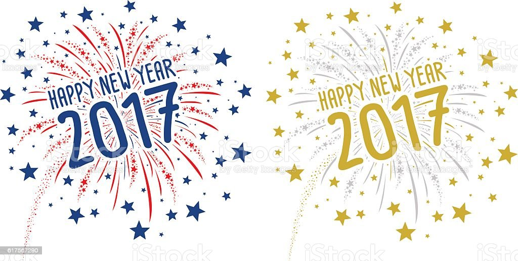 firework with happy new year 2017 on white background royalty free firework with happy new