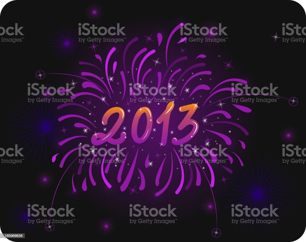 fireworks 2013 royalty-free stock vector art