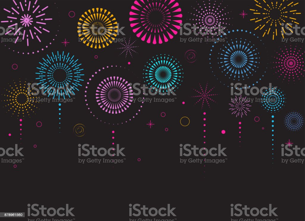 Fireworks and celebration background, winner, victory poster royalty-free fireworks and celebration background winner victory poster stock illustration - download image now