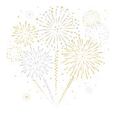 Fireworks and stars vector illustration stock illustration