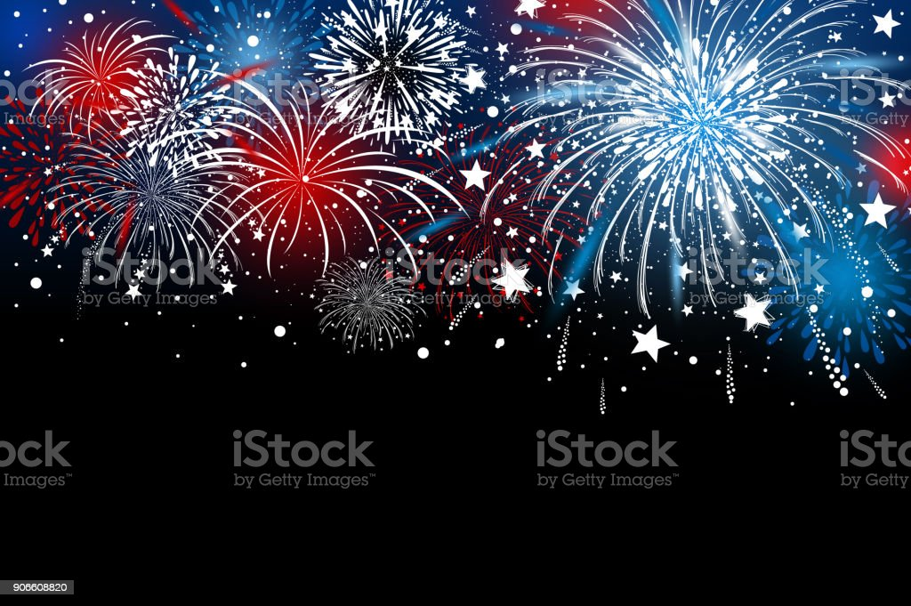 Fireworks background design vector illustration vector art illustration