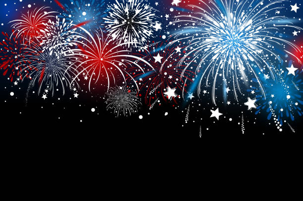 fireworks background design vector illustration - fireworks stock illustrations