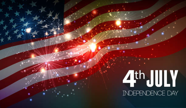 Fireworks background for 4th of July Fireworks background for 4th of July Independense Day independence day holiday stock illustrations