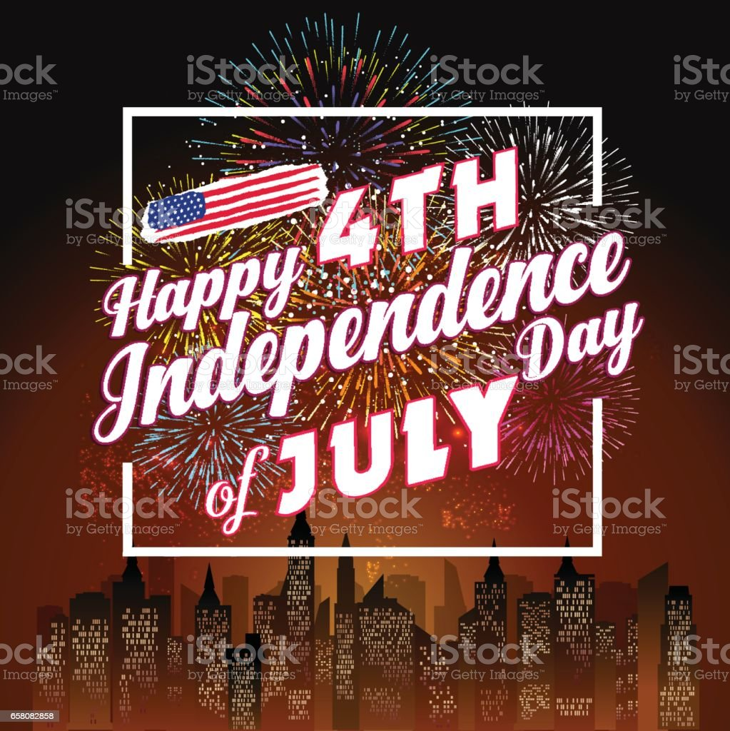 Fireworks background for 4th of July royalty-free fireworks background for 4th of july stock vector art & more images of arts culture and entertainment